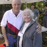 Story Musgrave poses with long time member Vivian Hartnett