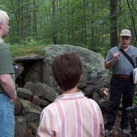 Rick Lynch as our tour guide at America's Stonehenge