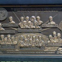 Astronauts Memorial plaque at Kennedy Space Center