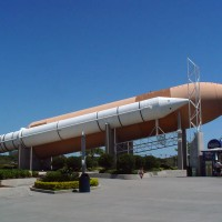 External Tank and Solid Rocket Booster Stack replica at Kennedy Space Center