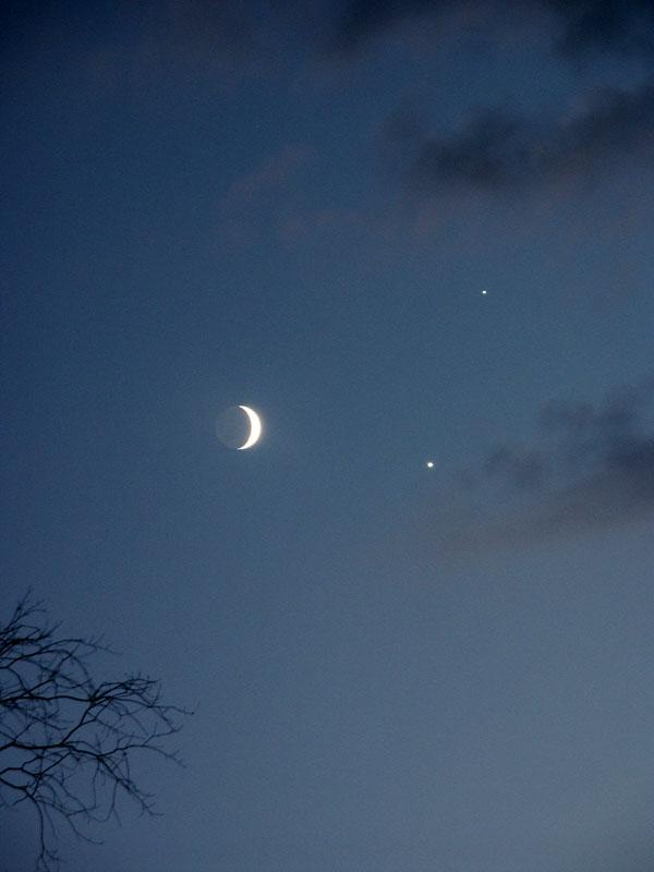 Moon, Venus & Jupiter Conjunction