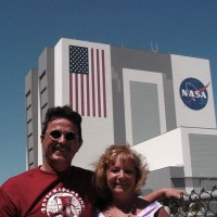 Tom and Lisa Thibault at Kennedy Space Center