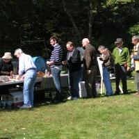 The chow line at AstroAssembly 2008