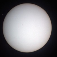 Projected solar disk at Griffith Observatory
