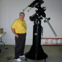 Al Hall and his telescope mount.