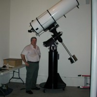 Al Hall and his 16-inch Cassegrain telescope